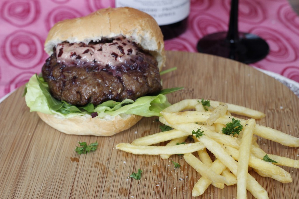 Homemade Hamburger Recipes that will Rock Your Tastebuds! - Homemade Beef Burger with Red Wine Butter